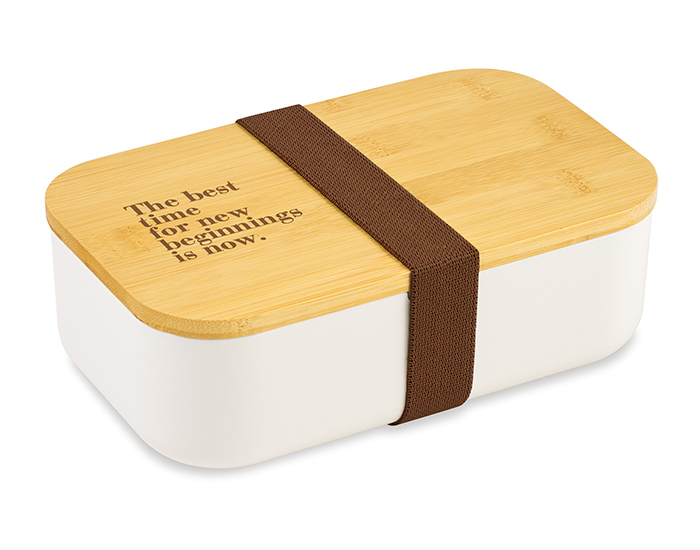 white lunch box made from sustainable materials