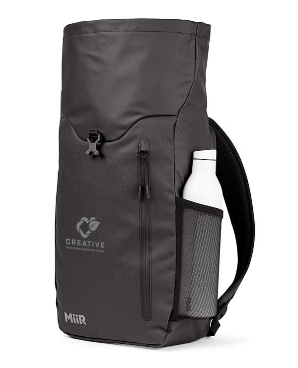 logoed backpack