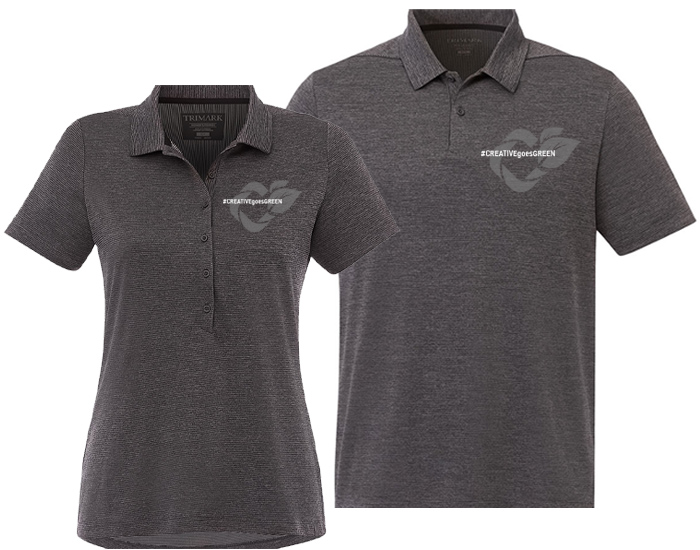 matching men's and women's branded polo shirt