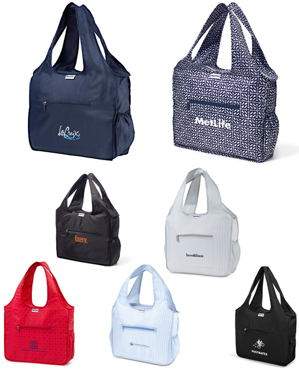 different color options for the branded tote