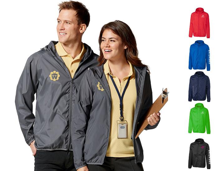 branded company jacket