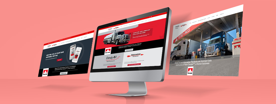 website design preview for a fuel distributor