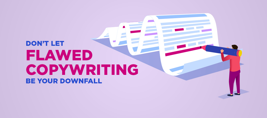 don't let flawed copywriting be your downfall blog post cover