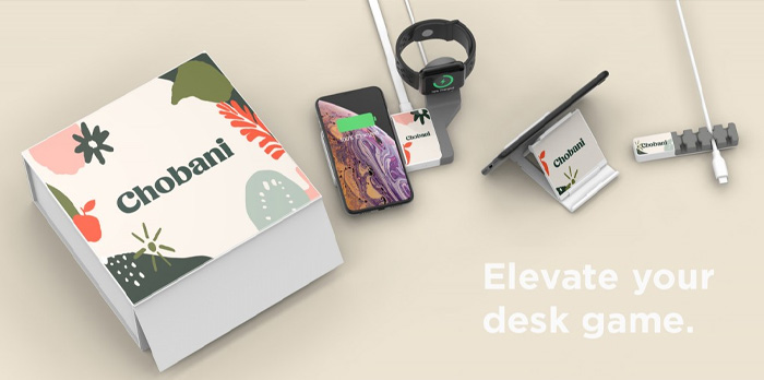 Desk Saver Kit branded with client's logo