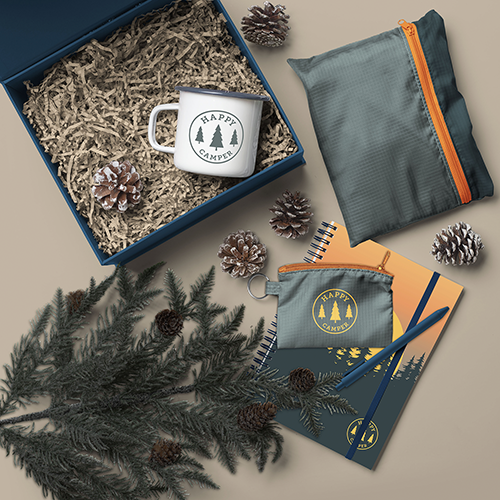 lifestyle image of the happy camper kit
