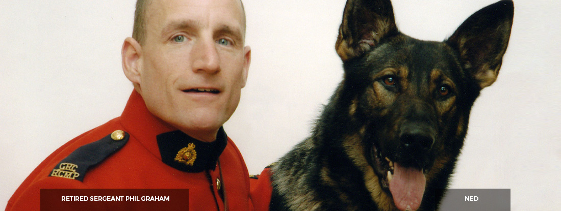 Retired Sergeant Phil Graham and Ned