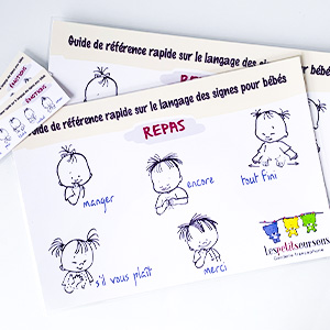 french sign language placemat and bookmark