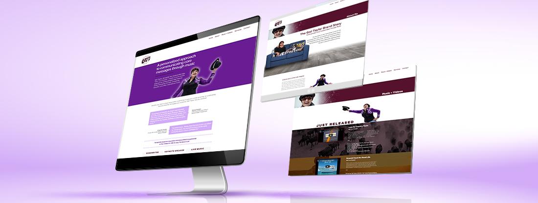 website design for Gail Taylor Music